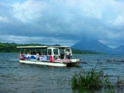 Traveling across Lake Arenal from La Fortuna to Monteverde