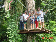 Canopy adventure Puerto Viejo